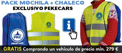Chaleco y mochila pekecars