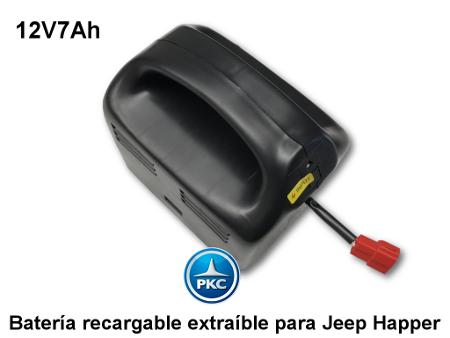 Bateria extraible para jeep happer 12v 7ah