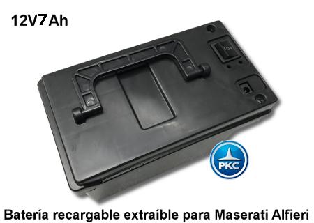 Bateria extraible para maserati alfieri 12v 7ah