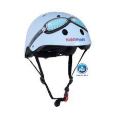 Casco para niños Retro Azul Pequeño con Gafas Pintadas vista principal