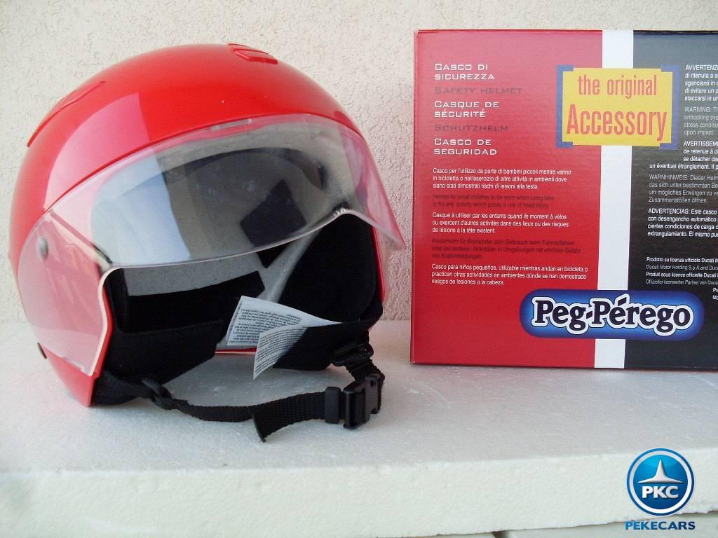 Casco para niños Ducati Rojo con caja