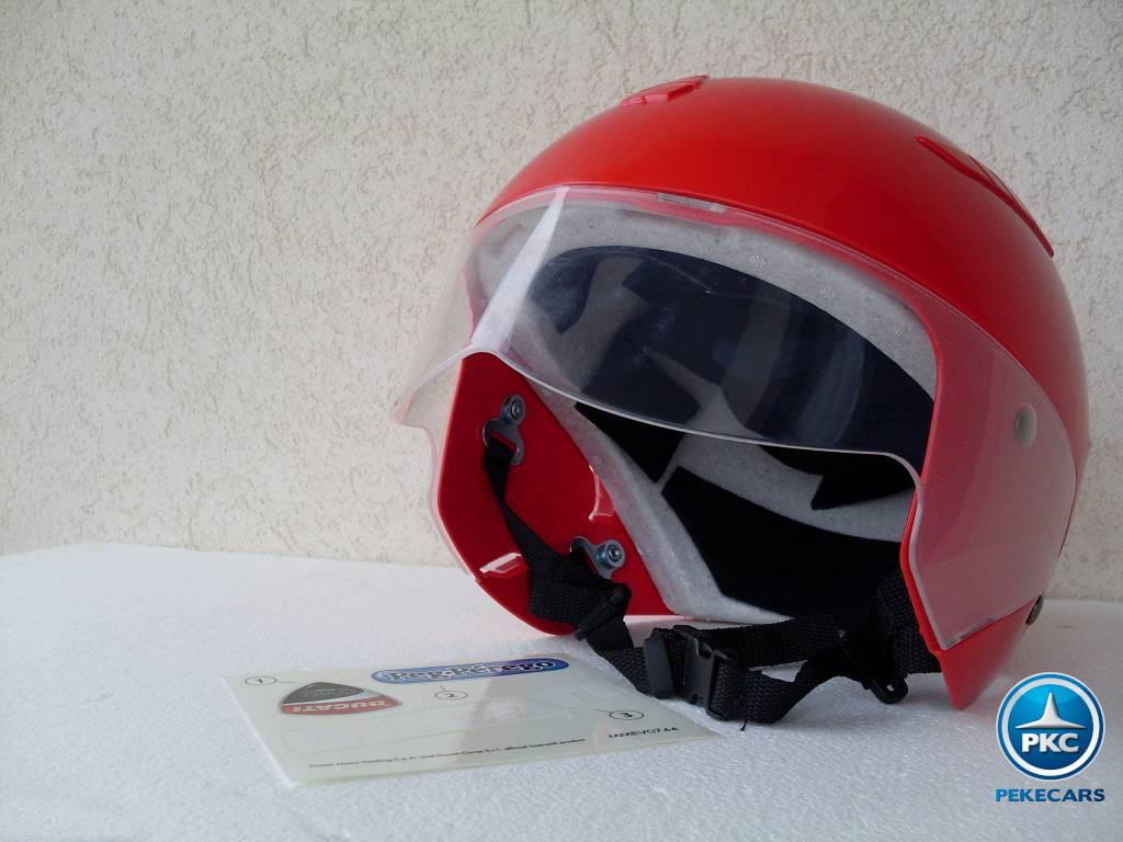 Casco para niños Ducati Rojo interior acolchado
