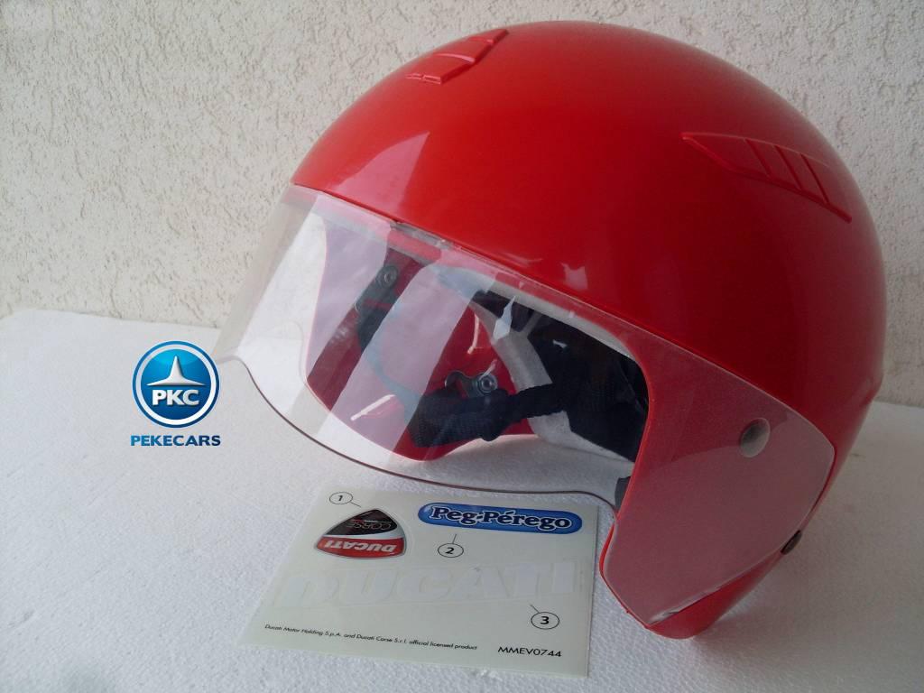 Casco para niños Ducati Rojo pegatinas