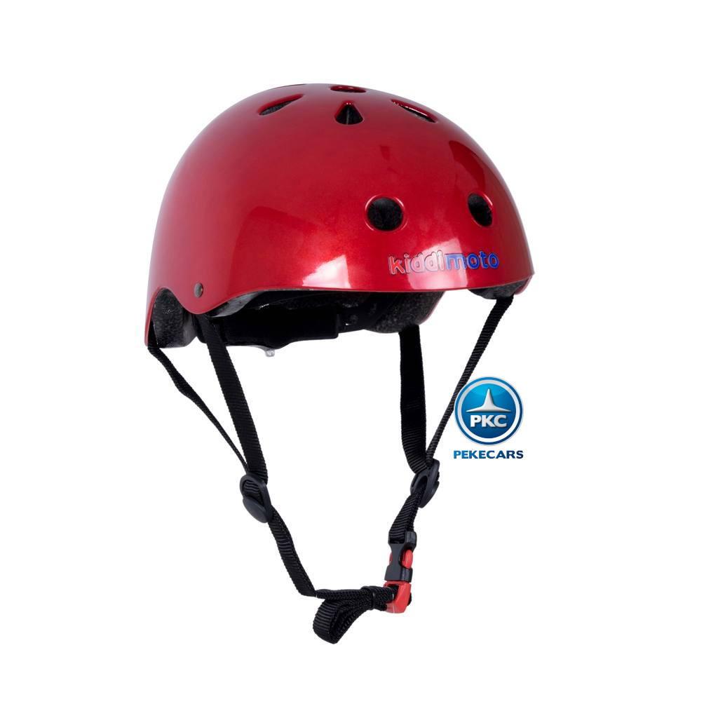 Casco para niños Metálico Rojo Mediano vista principal