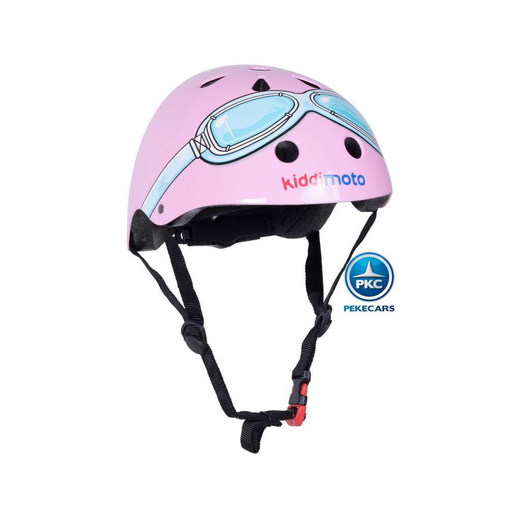 Casco para niños Retro Rosa Pequeña con Gafas Pintadas vista principal