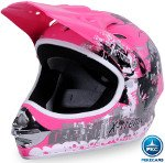 Casco Cross Helm Rosa