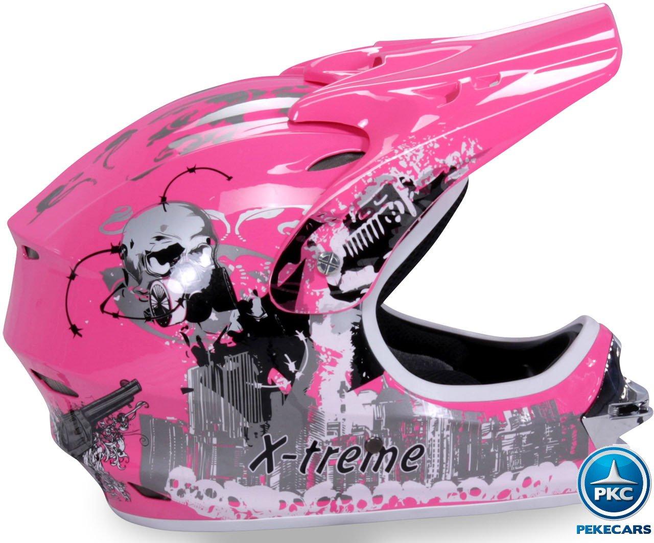 Casco Cross Helm Rosa Pekecars