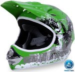 Casco Cross Helm Verde
