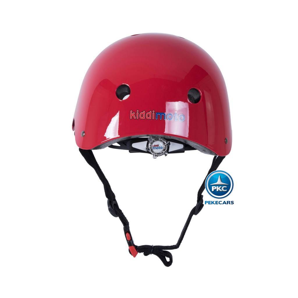 Casco para niños Retro Rojo Mediano con Gafas Pintadas con rueda de ajuste