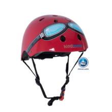 Casco para niños Retro Rojo Mediano con Gafas Pintadas vista principal
