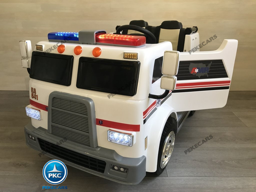Ambulancia electrica infantil 2 plazas vista principal