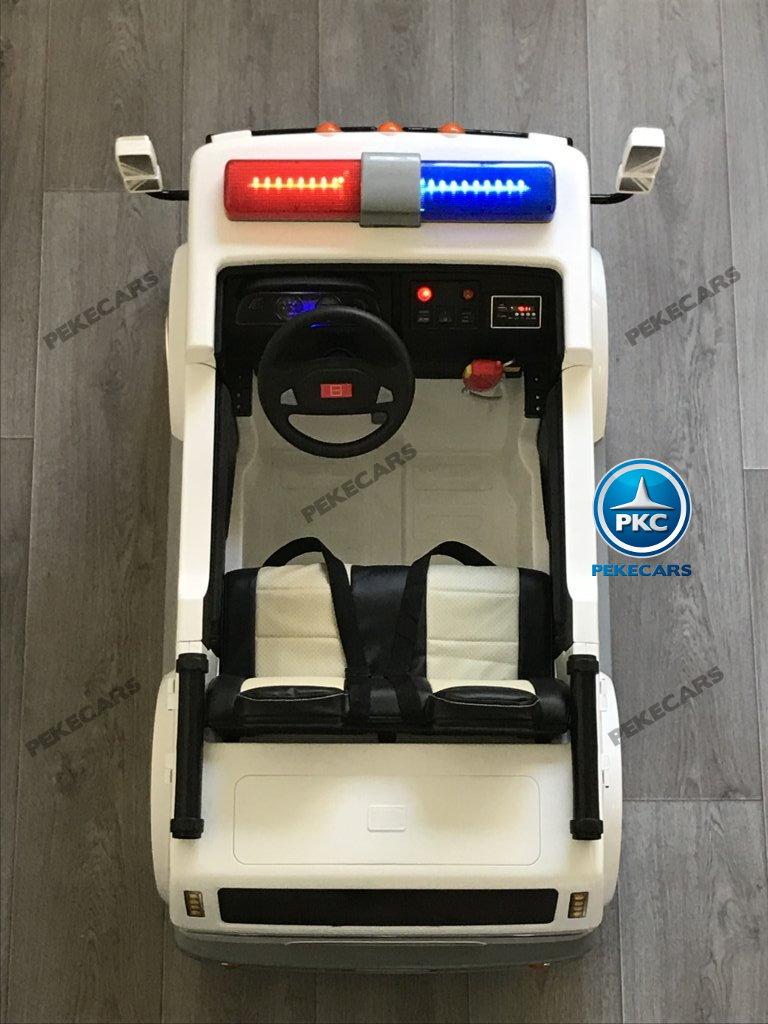 Ambulancia electrica para niños 2 plazas amplio espacio