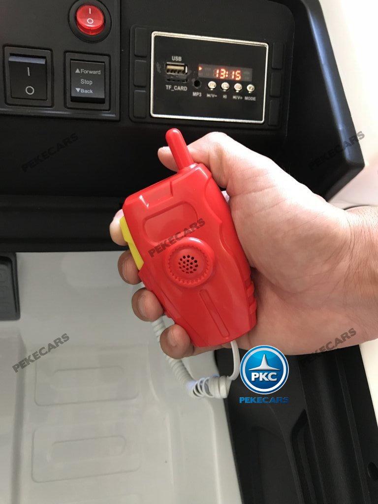 Ambulancia electrica para niños 2 plazas con megafono