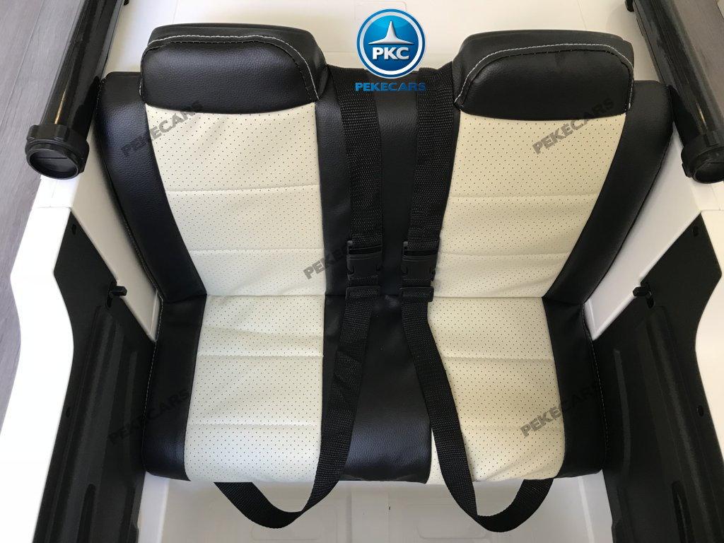 Ambulancia electrica para niños 2 plazas asiento acolchado