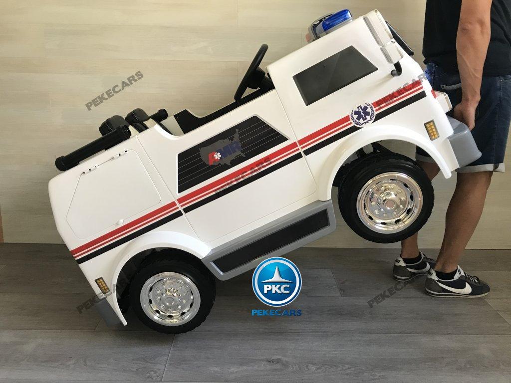 Ambulancia electrica para niños 2 plazas con sistema stroller