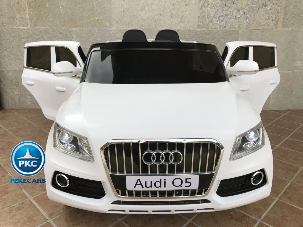 Coche electrico para niños Audi Q5 Blanco con apertura de puertas