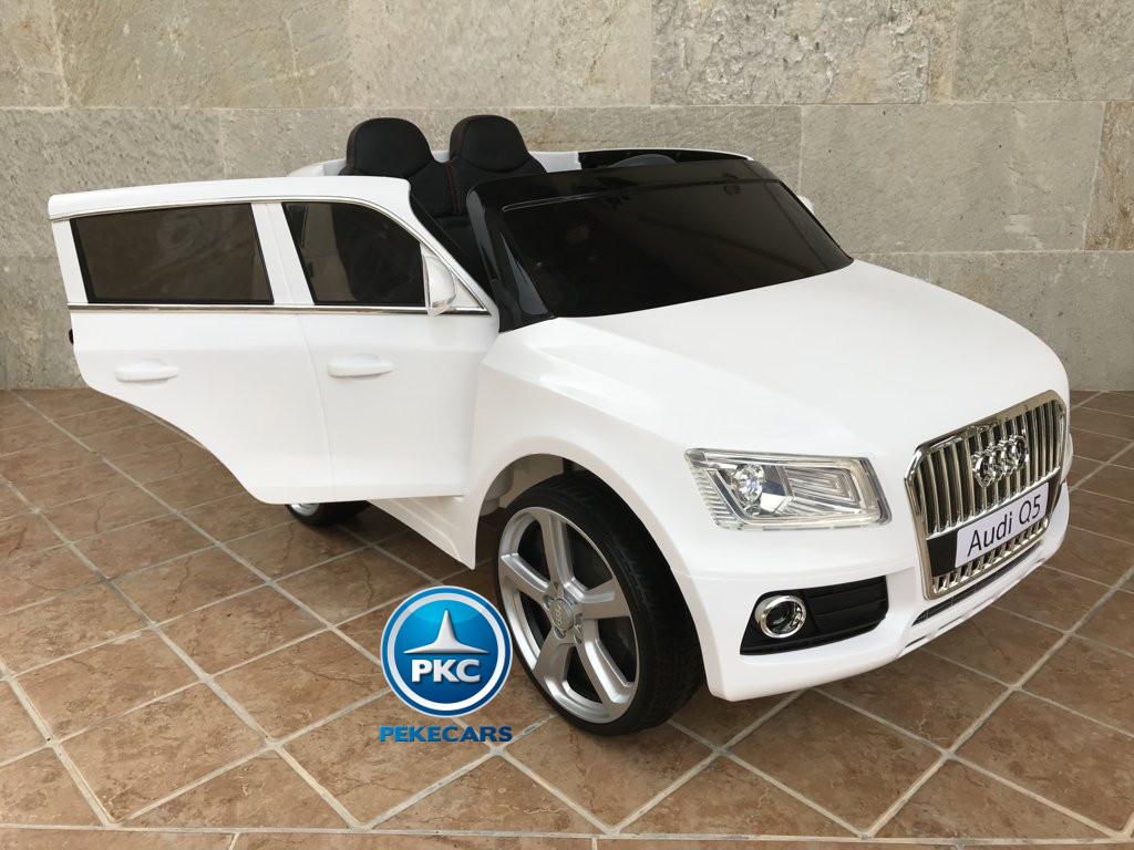 Coche electrico infantil Audi Q5 12V Blanco
