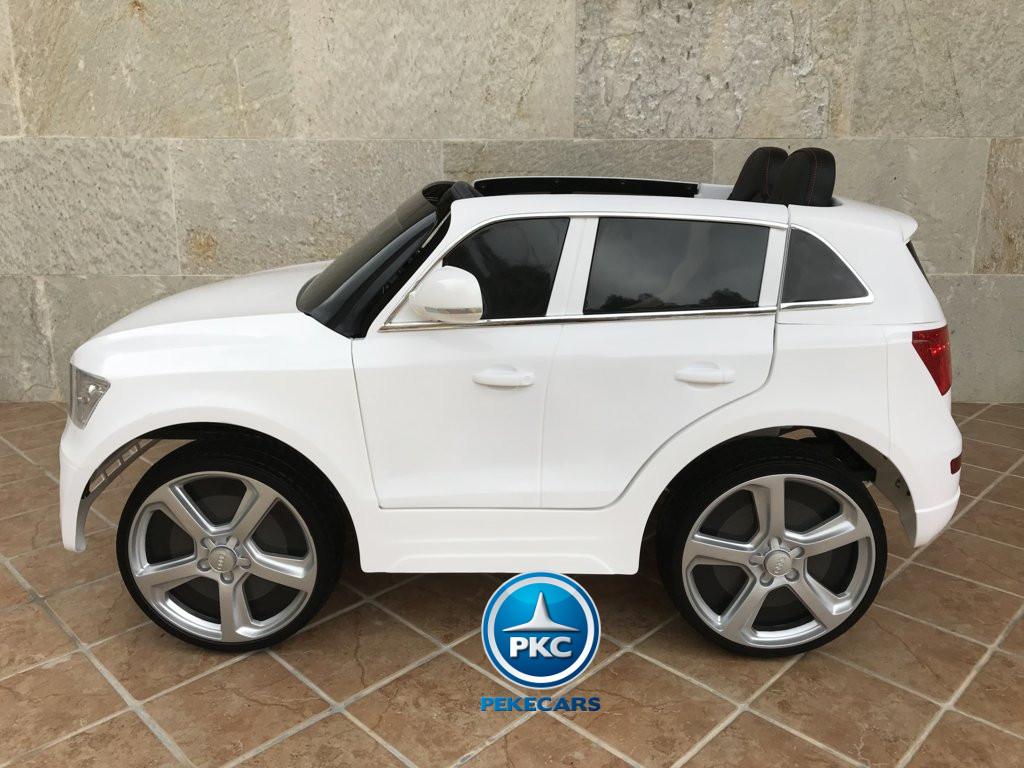 Coche electrico para niños Audi Q5 Blanco con control de velocidad