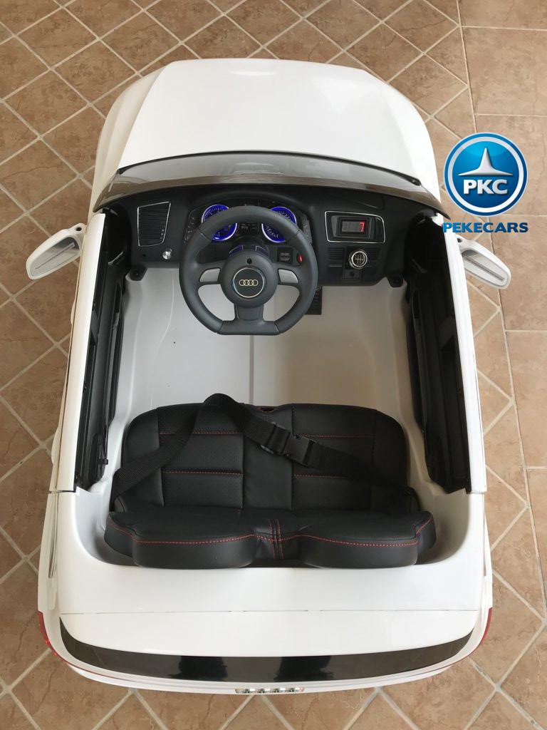 Coche electrico infantil Audi Q5 12V Blanco con amplio espacio
