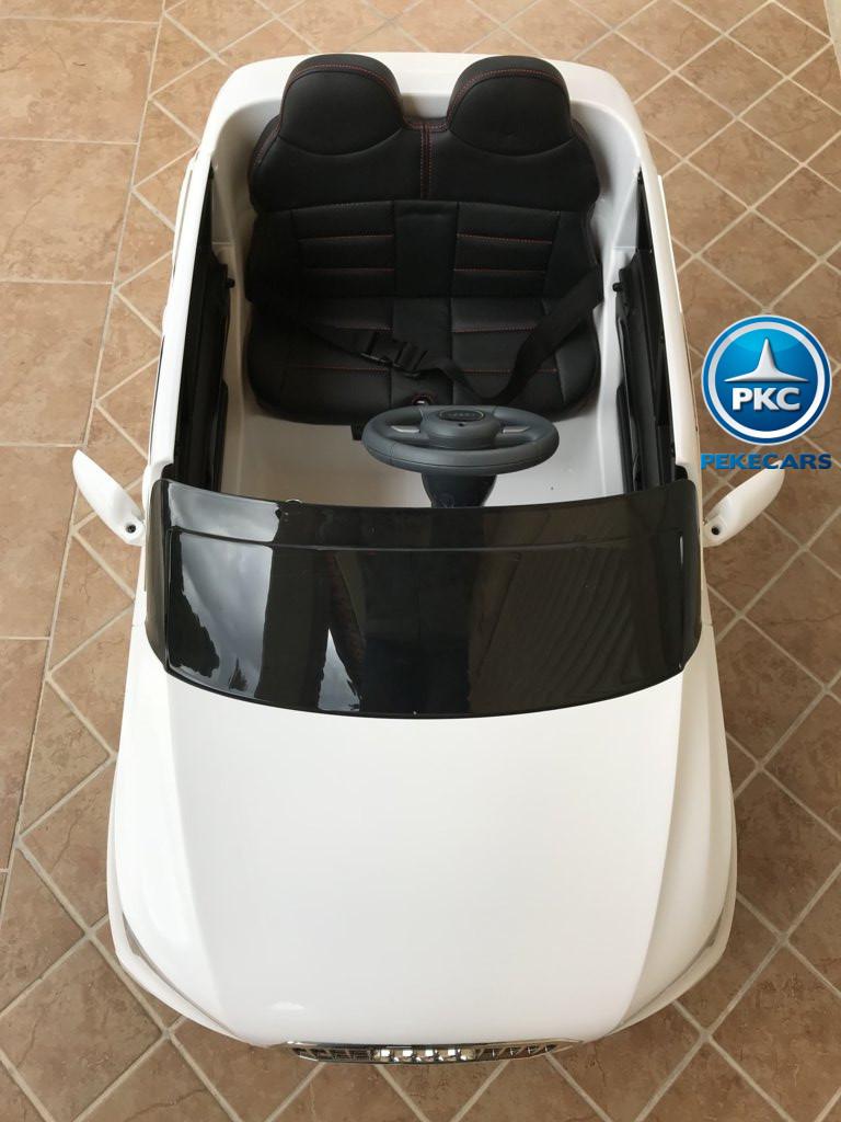 Coche electrico para niños Audi Q5 Blanco visto desde arriba