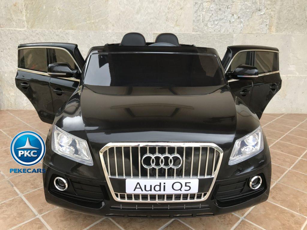 Coche electrico para niños Audi Q5 Negro metalizado con apertura de puertas