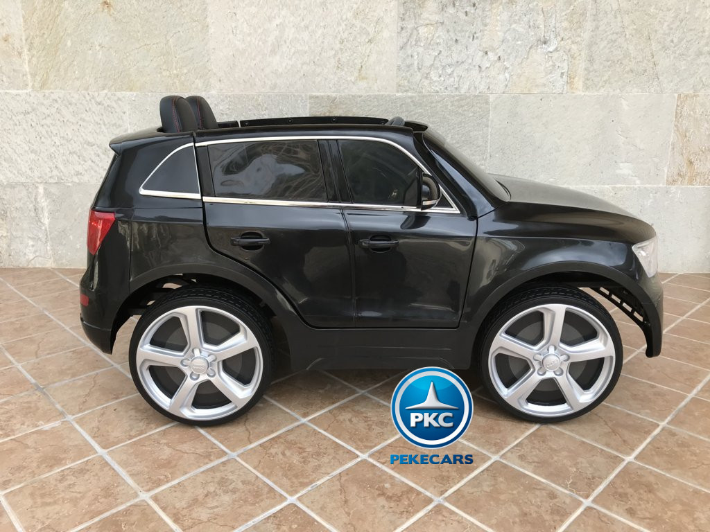 Coche electrico para niños Audi Q5 Negro metalizado vista lateral