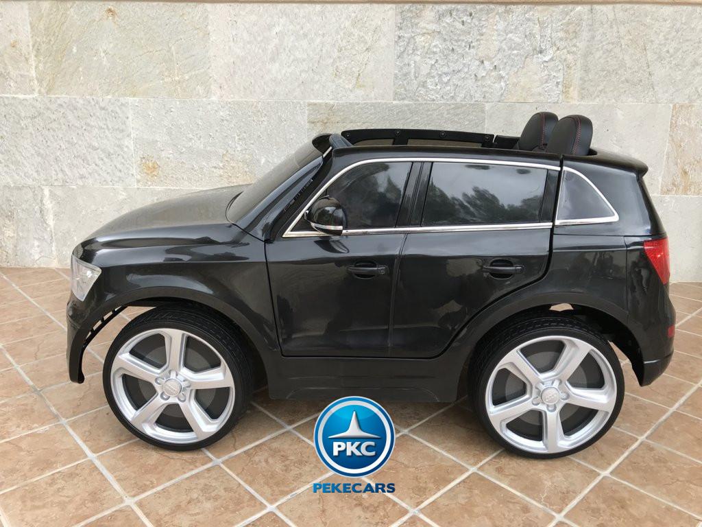 Coche electrico para niños Audi Q5 Negro metalizado con cristales altos