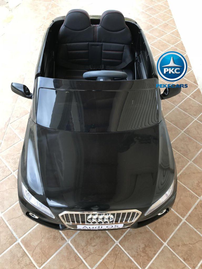 Coche electrico infantil Audi Q5 12V Negro metalizado visto desde arriba