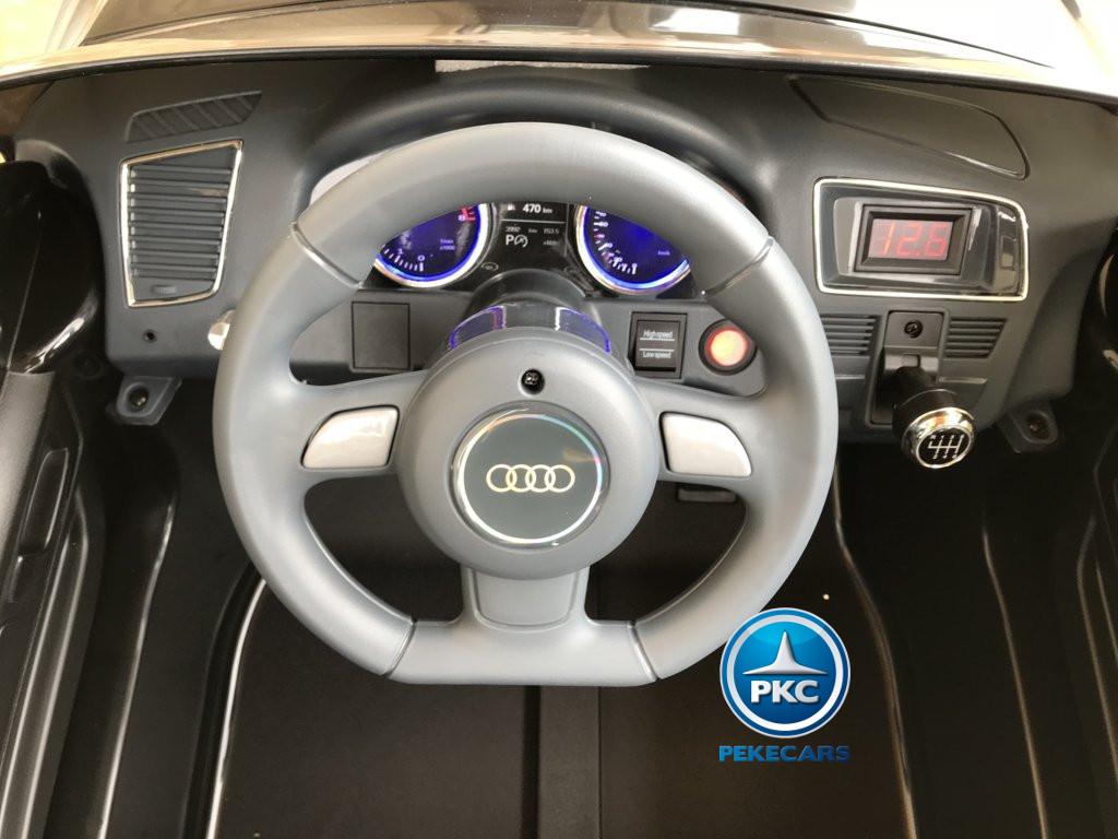 Coche electrico infantil Audi Q5 12V Negro metalizado volante con claxon