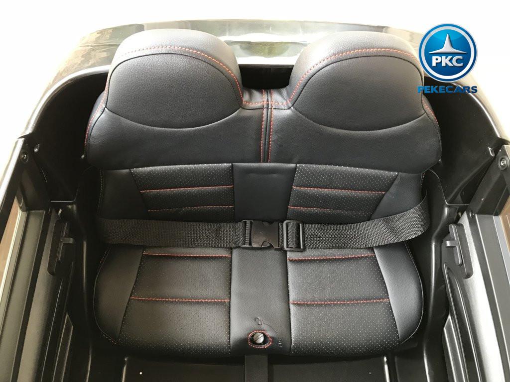 Coche electrico infantil Audi Q5 12V Negro metalizado asiento acolchado en polipiel