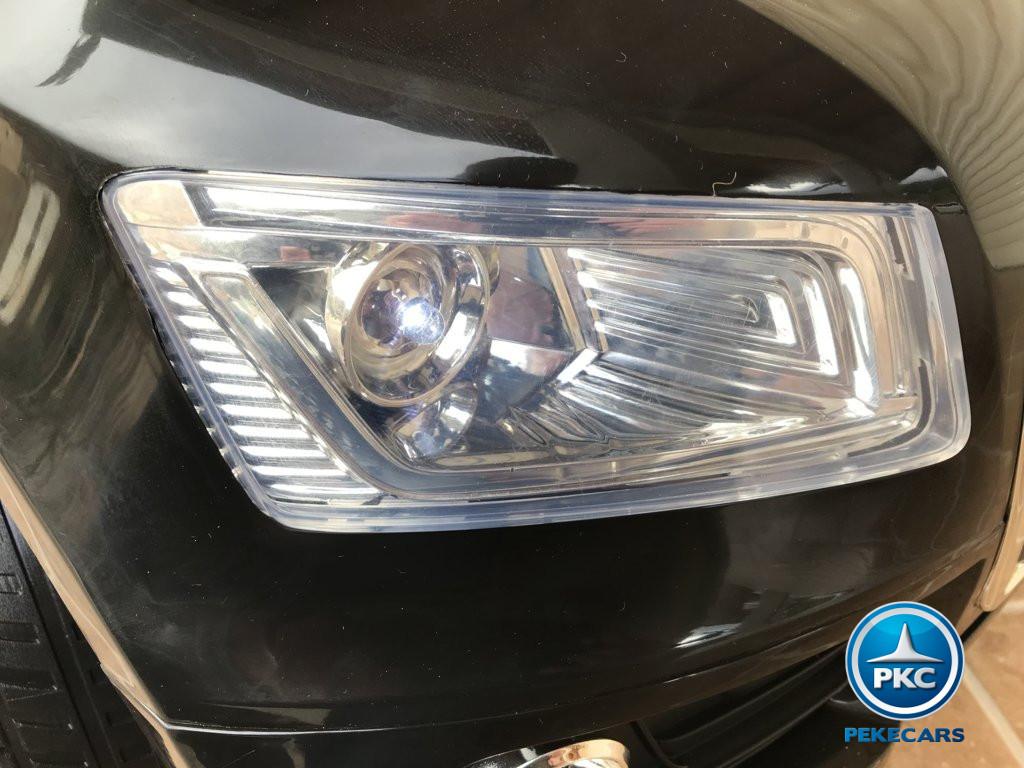 Coche electrico para niños Audi Q5 Negro metalizado luces delanteras