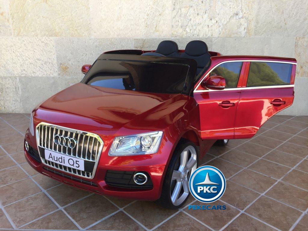 Audi Q5 para niños Rojo metalizado vista principal