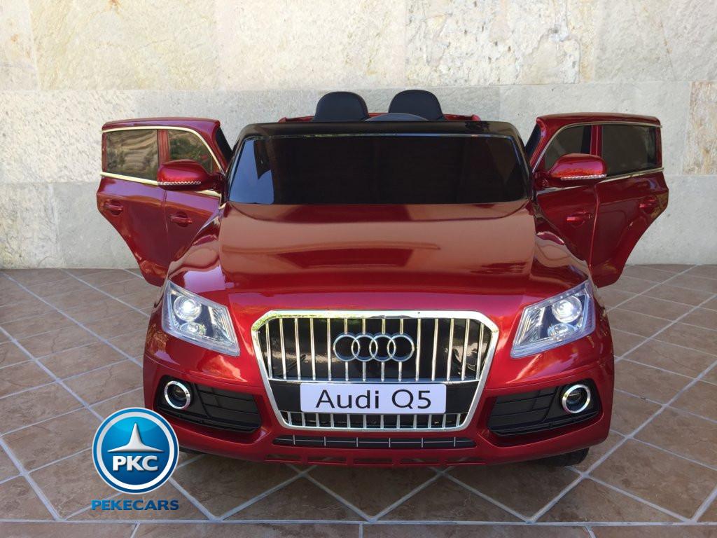 Coche electrico para niños Audi Q5 Rojo metalizado con apertura de puertas