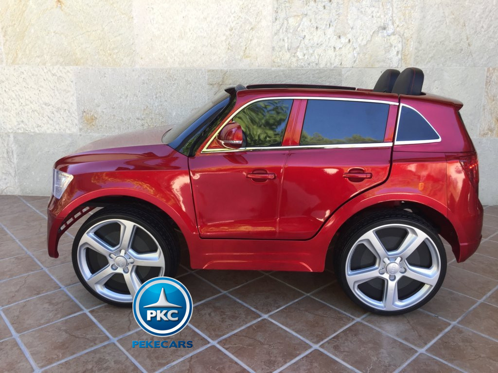 Coche electrico infantil Audi Q5 12V Rojo metalizado