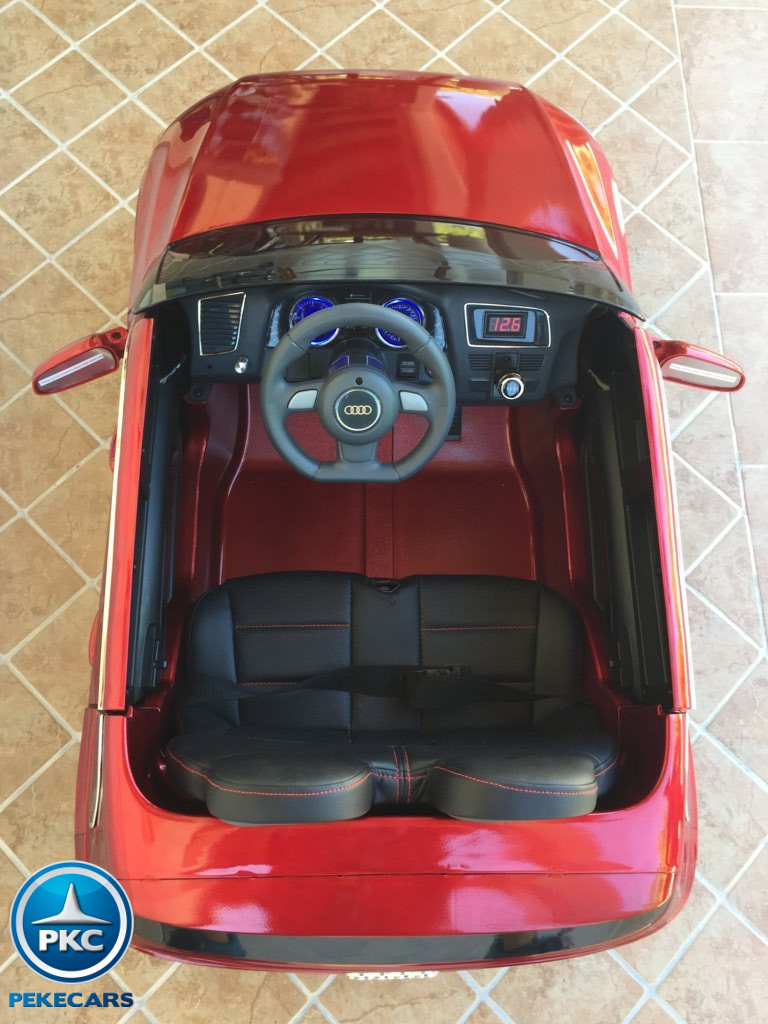 Coche electrico infantil Audi Q5 12V Rojo metalizado vista aerea