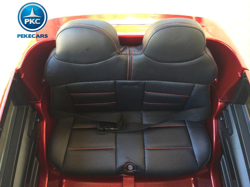 Coche electrico para niños Audi Q5 Rojo metalizado asiento acolchado en polipiel