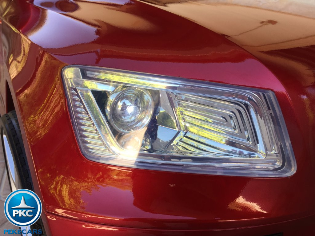 Coche electrico infantil Audi Q5 12V Rojo metalizado luces led