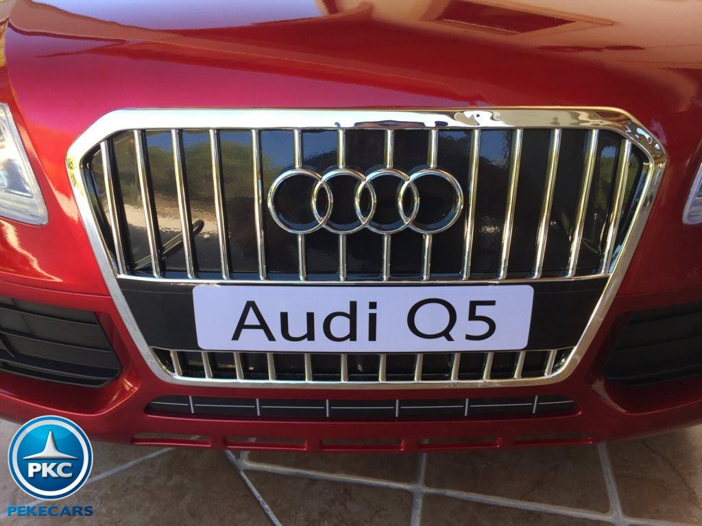 Coche electrico infantil Audi Q5 12V Rojo metalizado licencia oficial