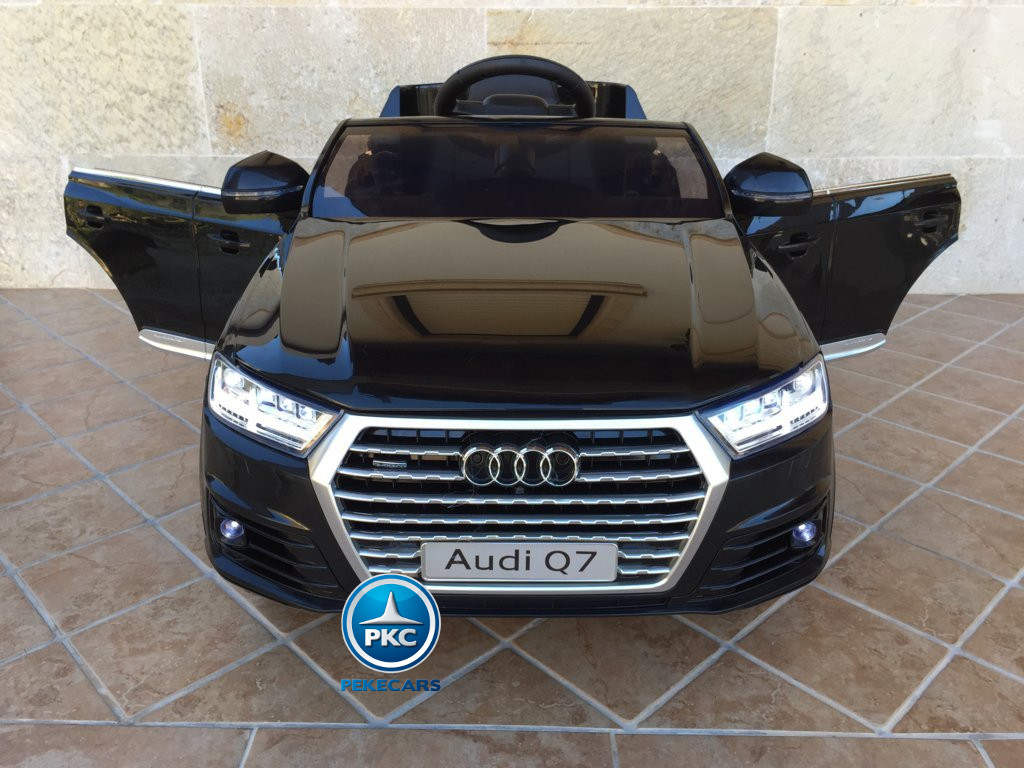 Coche electrico infantil Audi Q7 Facelift Negro vista frontal
