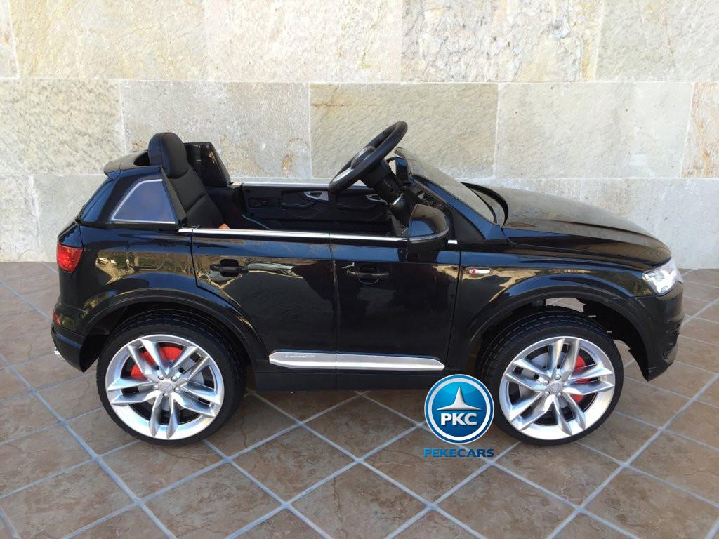 Coche electrico infantil Audi Q7 Facelift Negro vista lateral