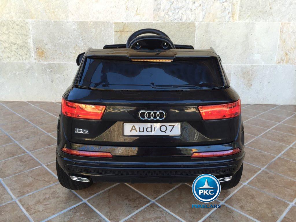 Coche electrico para niños Audi Q7 Facelift Negro vista trasera
