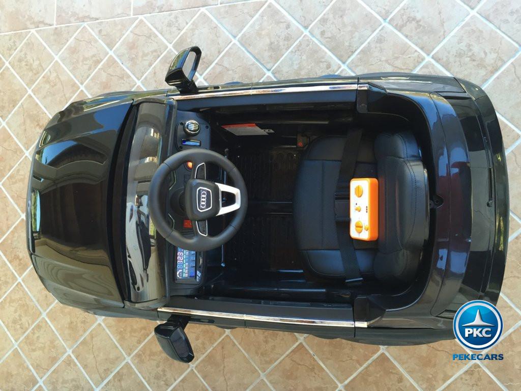 Coche electrico infantil Audi Q7 Facelift Negro con luces led