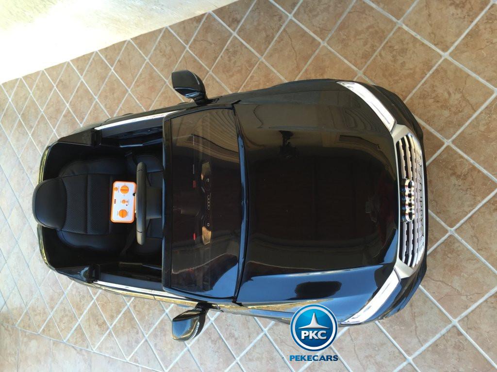 Coche electrico para niños Audi Q7 Facelift Negro visto desde arriba