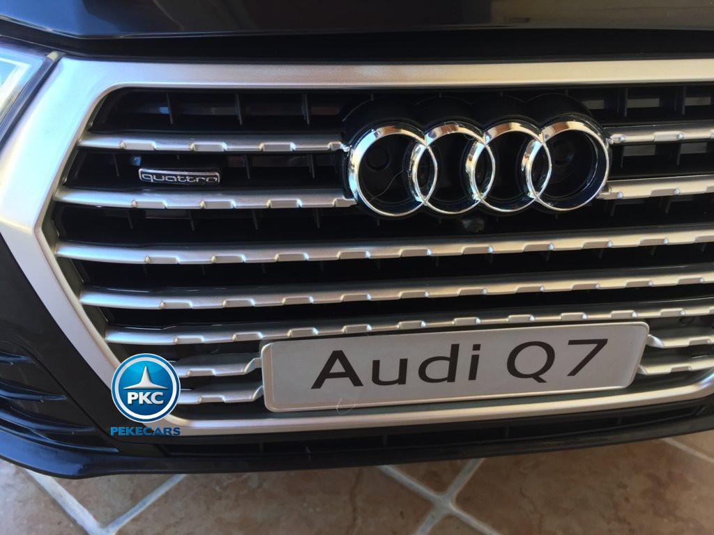 Coche electrico para niños Audi Q7 Facelift Negro con licencia oficial