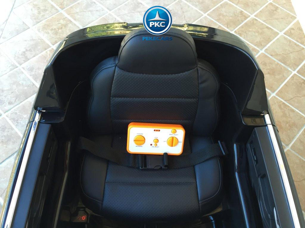 Coche electrico infantil Audi Q7 Facelift Negro asiento acolchado en polipiel