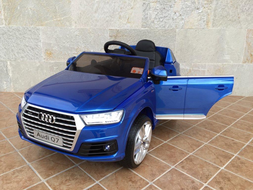 Coche electrico para niños Audi Q7 Facelift Azul Metalizado vista principal