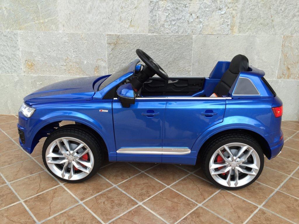 Coche electrico infantil Audi Q7 Facelift Azul Metalizado con apertura de puertas