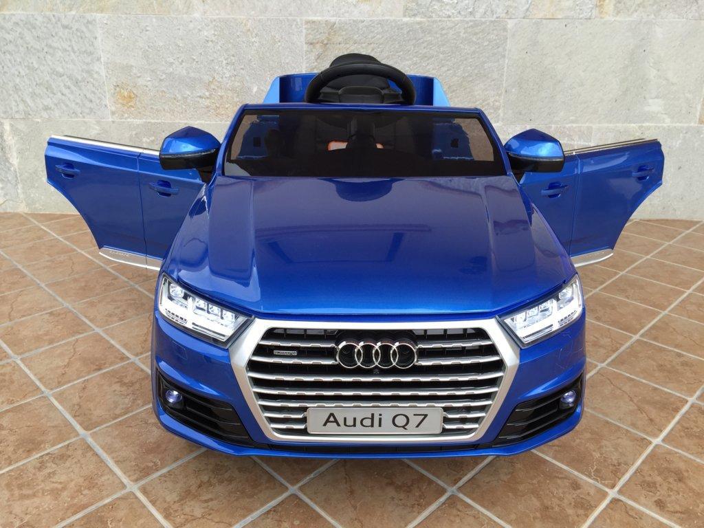Coche electrico para niños Audi Q7 Facelift Azul Metalizado