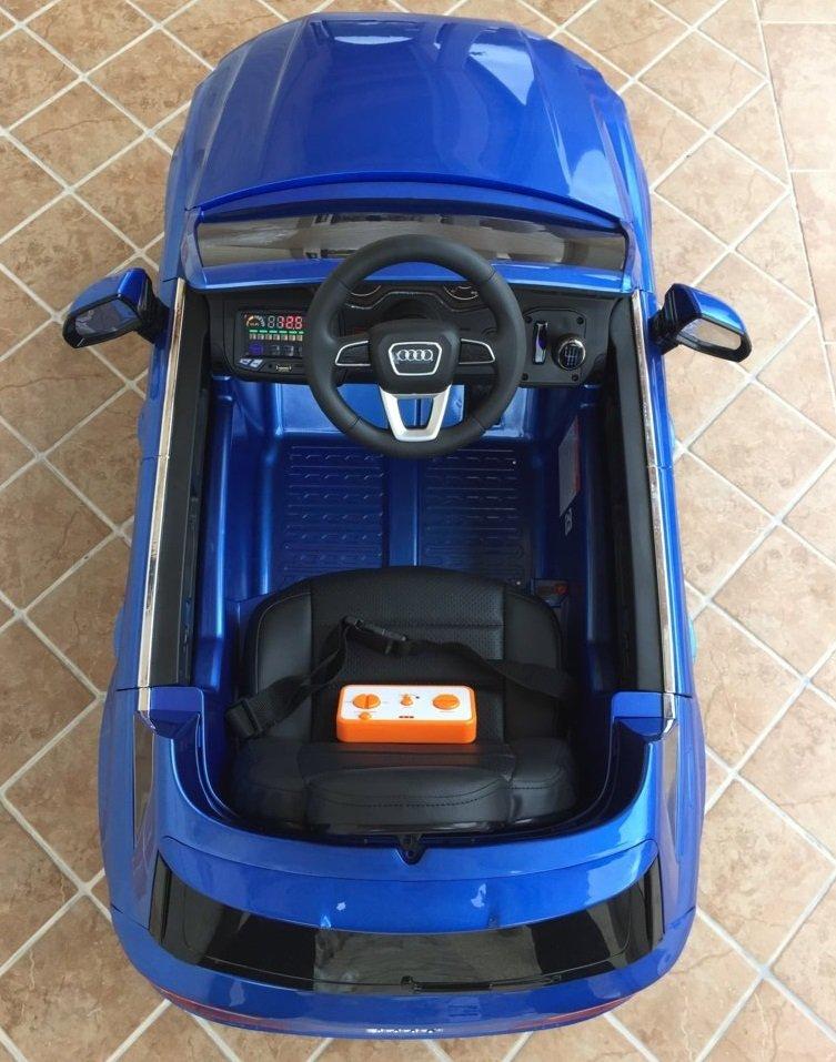 Coche electrico para niños Audi Q7 Facelift Azul Metalizado visto desde arriba