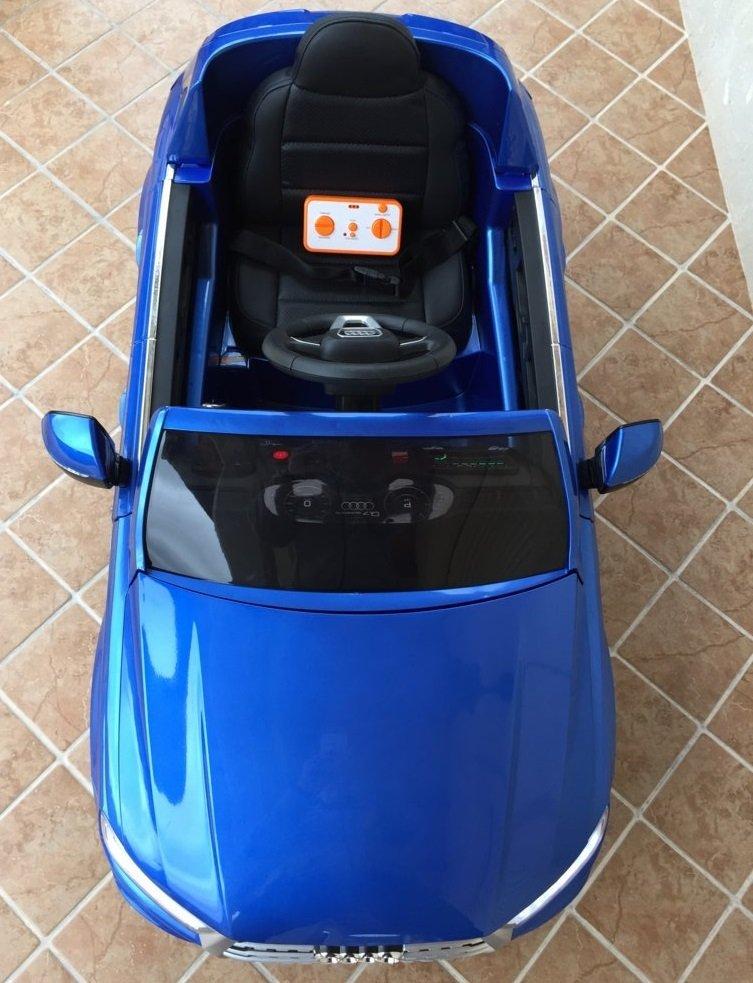 Coche electrico infantil Audi Q7 Facelift Azul Metalizado ruedas de caucho antipinchazos
